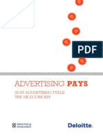 How Advertising Pays - Uk AA and Deloitte