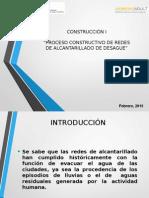 PROCESO CONSTRUCTIVO DE REDESDE ALCANTARILLADO DE DESAGUE