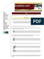 Instruction Notation Classical Pitch