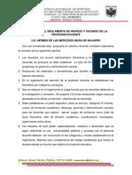 Propuesta Del Reglamento de Ingreso y Ascenso de La Profesion Docente