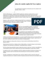 Estados UNIDOS cadena de comida rapida Del Taco explora venta-fuentes