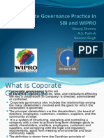 48866596 Corporate Governance Practice in SBI and WIPRO