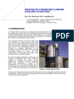 Design and Operation of a Pinned Bed Clarifier in Solvent Extraction Baxter Richmond White Alta