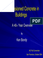 Post-Tensioned Concrete in Buildings ACI SF Bondy