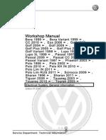 2003 Volkswagen Touran Workshop Manual Electrical System