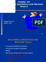Chapter 22-Machining Operations II