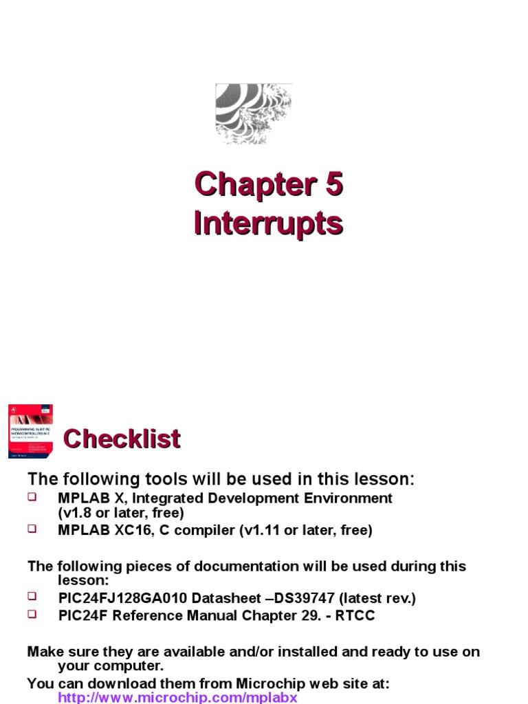 Chapter5 InterruptsInterru | Microcontroller | C