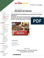 La Dificultad Del Alemán-Alemao Sensillo