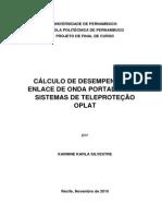 Cálculo de Desempenho Teleproteção Oplat