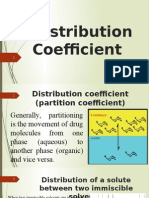 distribution coefficient