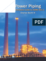 Power Piping-The Complete Guide to Asme b31.1 - 2013 - By Charles Becht IV