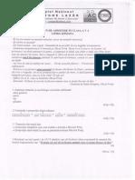 Limba Romana - Subiect examen de admitere  in cls a V-a 2012-2013.PDF