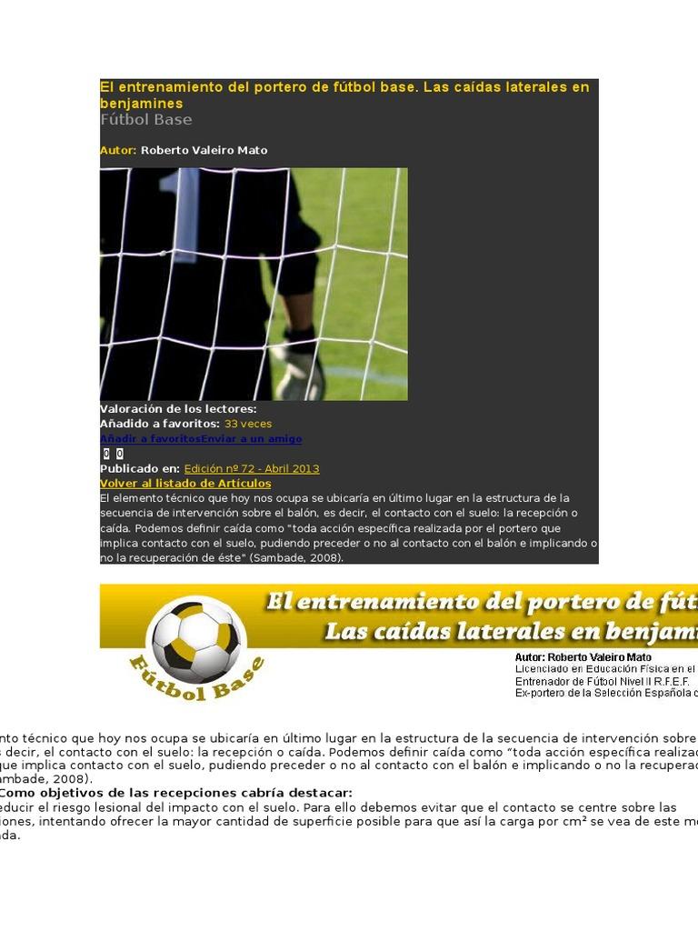 El Entrenamiento Del Portero De F U00fatbol Base Jdfhdjfhjd