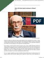 Antonio Cândido Indica 10 Livros Para Conhecer o Brasil _ Blog Da Boitempo