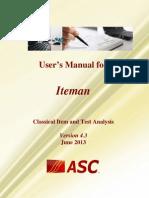 Iteman 4.3 Manual