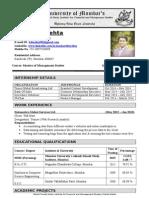 Resume Kartik Mehta