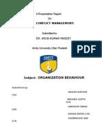 Ob Conflict Management Final by Sam