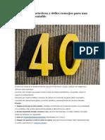 40 Sencillos, Recomendaciones Ambientales,