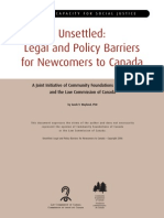Legal Policy Barriers for Newcomers to Canada