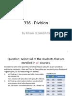 Relational Algebra Division
