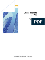 Legal Aspects of PKI