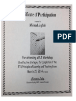pdq plt certificate