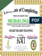 smart board certificate
