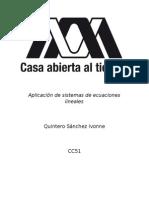 Aplicación de Sistemas de Ecuaciones Lineales