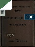NIEDERMANN, Max. Phonetique Historique Du Latin