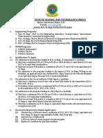 MIST M.Sc. Admission Circular - April 2015
