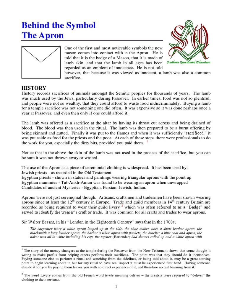 The symbol - Apron pdf | Catharism | Freemasonry