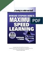 Speed Reading Howard Berg