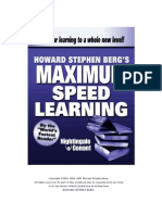 Speed Reading Howard Berg