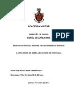 Artilharia Na Defesa de Costa en Portugal