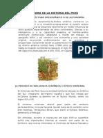Etapas de La Historia Del Peru