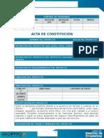 Acta de Constitución -JUSTIFICACIÓN