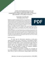 La Funcion Onomasiologica de Los Diccionarios