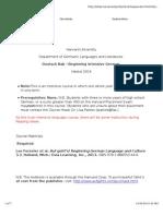 German Course Description