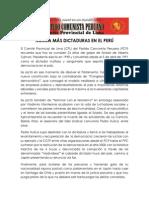 Nunca Más Dictaduras en El Perú