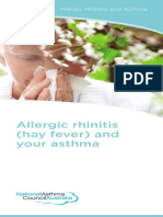 Allergic Rhinitis Hay Fever and Your Asthma