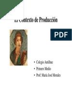 Lenguaje-contexto de Produccion