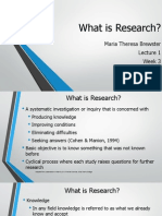 research methods - lecture 1
