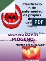 Clasificación de Enfermedades Propias de La Cavidad Bucal