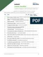 Sensory Assessment Checklist