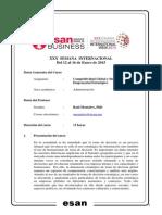 Syllabus Competitividad Global y Desarrollo - Prof. Montalvo - SI 2015 I 2