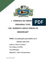 Los Principios Procesales en El Sistema Oral Civil. Flavio Chiong