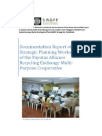Documentation Report of the Strategic Planning Workshop of the Payatas Alliance Recycling Exchange Multi-Purpose Cooperative