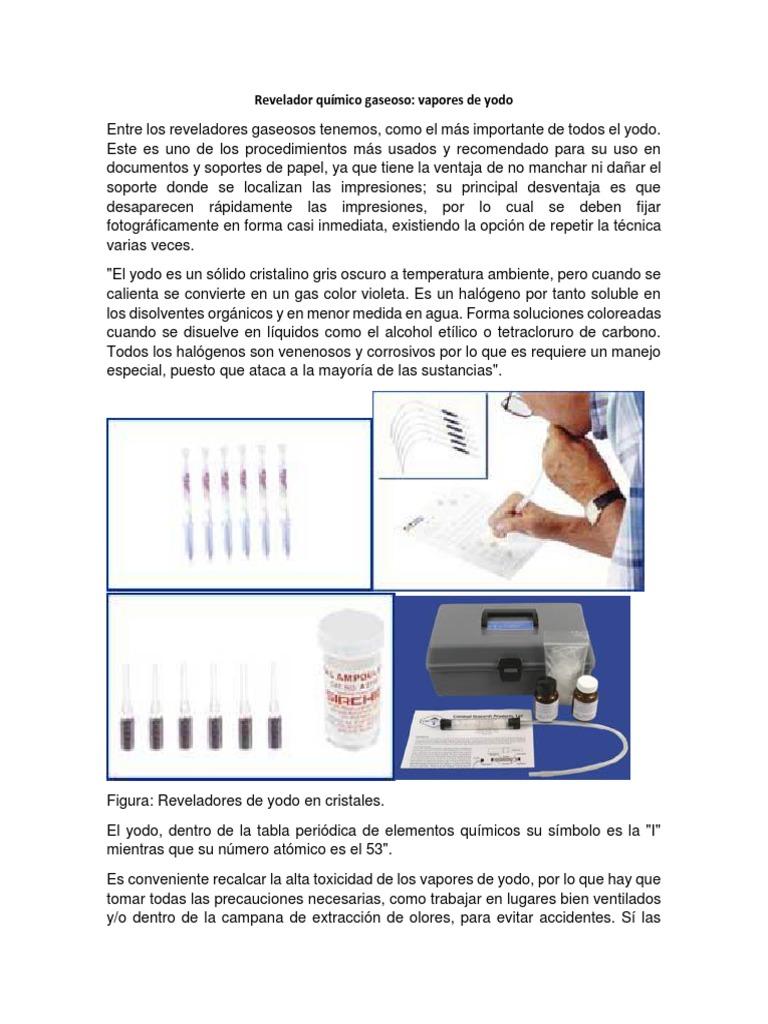Revelador qumico gaseoso yodo urtaz Image collections