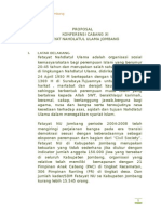 Contoh Proposal Konferensi Cabang Fatayat NU