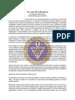 Tolerancia, Un Caso de - Abr98 - Burnam Schaa, F.R.C.